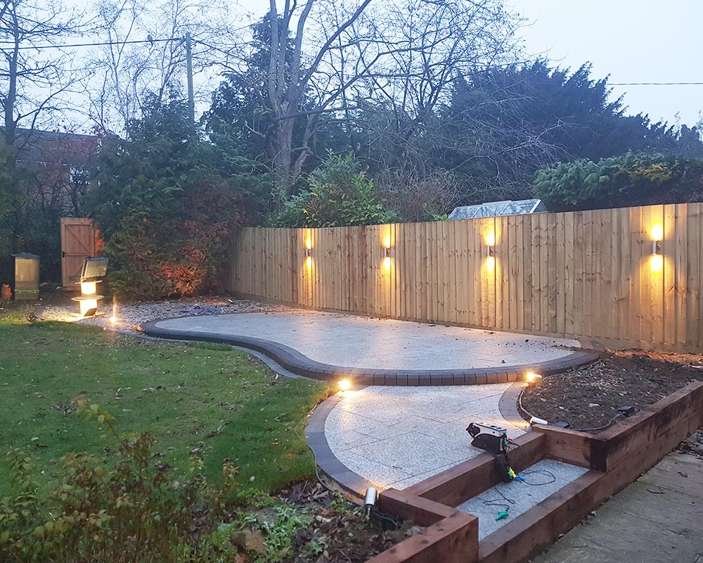 Garden lighting installation project